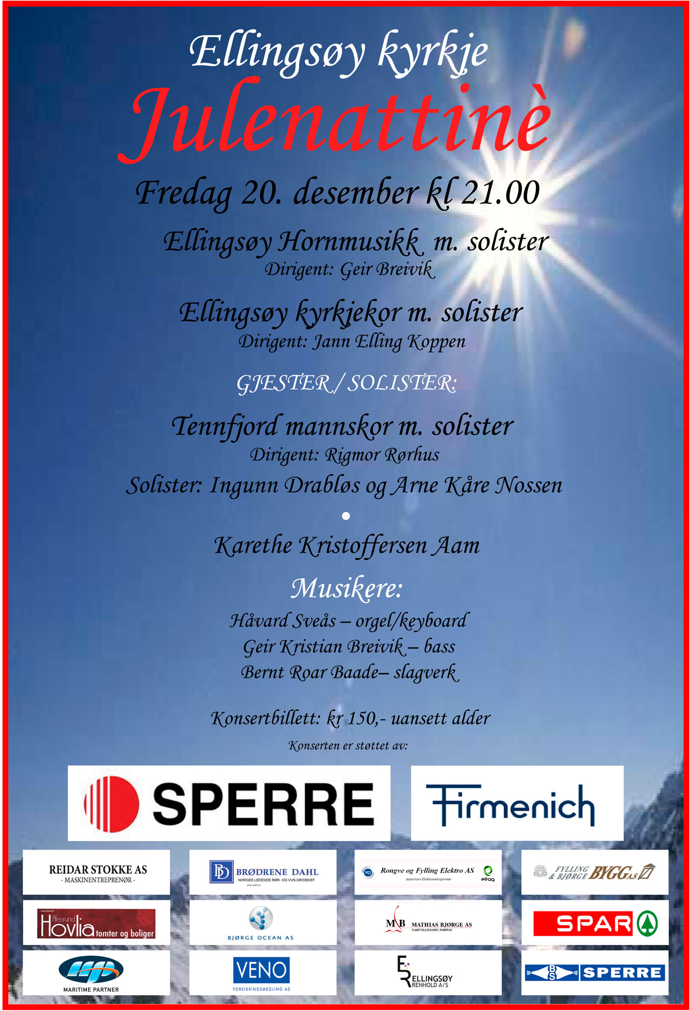 Program Julenattinéen 20.12.2013